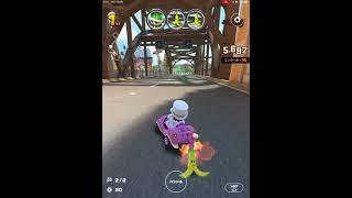 【マリオカートツアー】小ネタ アイテムを投げてくる乗客にバナナを投げつける Mario Kart Tour Throw items at passengers